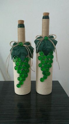 Custom hand painted/designed decorative wine bottle for centerpieces in home decor, vases, or to an extra touch of color in the room Glass Bottle Crafts, Wine Bottle Art, Wine Cork Crafts, Diy Bottle, Jar Crafts, Wine Bottle Centerpieces, Wedding Wine Bottles, Recycled Wine Bottles, Lighted Wine Bottles