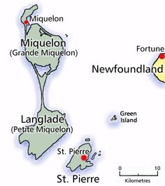 St. Pierre and Miquelon, France (So close!!)