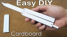 How to make Butterfly knife from Cardboard for practicing tricks - EASY TUTORIAL Cool Paper Crafts, Diy Crafts To Do, Paper Crafts Origami, Origami Knife, Instruções Origami, How To Make Butterfly, Diy Butterfly, Armas Ninja, Origami Ninja Sword