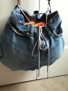 recycled jeans hobo bag tutorial!
