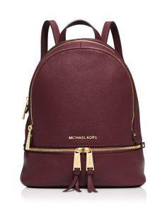 MICHAEL Michael Kors Small Rhea Zip Backpack   Bloomingdale's - handbag, casual, carteras, big, shoulder, blue purses *ad