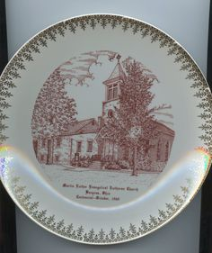 Martin Luther Lutheran Church Commemorative Plate - Bucyrus Ohio by GenerationsAgo on Etsy