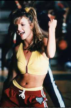 Britney on the set of the ...Baby One More Time video shoot.
