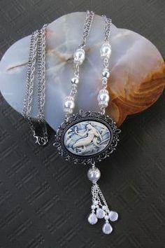 """The Mermaid's Pearls"" necklace & earrings"
