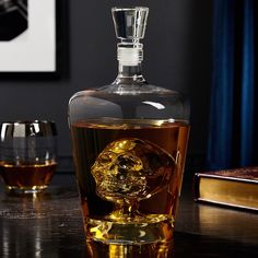 Present your fine whiskey with the stylish elegance of our crystal decanter. This whiskey decanter is crafted into a delicate triangular shape, and the cut allows the amber glow of your favorite whiskey to shine through. This crystal decanter adds class t Carafe, Wine Decanter Set, Whiskey Decanter, Whiskey Bottle, Whiskey Drinks, Crystal Decanter, Alcohol Bottles, Liquor Bottles, Liqueur