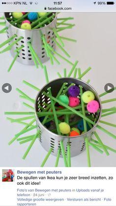 Make Your Own Kerplunk Game - Invitation To Play - Meri Cherry - Diy Crafts - hadido Motor Skills Activities, Fine Motor Skills, Preschool Activities, Games For Kids, Diy For Kids, Crafts For Kids, Family Games, Kerplunk Game, Finger Gym