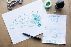 Goulet Pens Blog: Monday Matchup #32: TWSBI Mini Classic in 1.5mm Italic with De Atramentis Mint Turquoise
