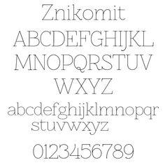 Minimalistic sans font