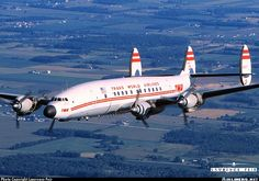 Lockheed L-1049H/01 Super Constellation N6937C TWA Connie of the Airline History Museum (Kansas City). Wisconsin 1998 Lawrence Feir