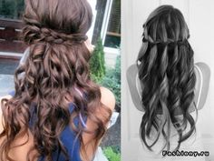 the one of the right would be a cute simple hairstyle for your wedding rehearsal.