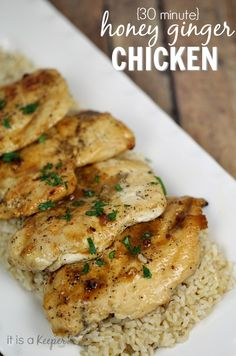 Free quick and easy recipes 30 MINUTE HONEY GINGER CHICKEN - It is a Keeper