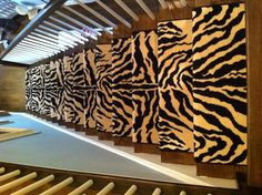 Just Installed! This classic animal pattern, Louis Dabbieri Betrina II in Black & White expertly installed on our client's staircase in Boston.