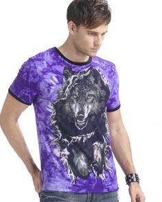glow in the dark wolf t shirt animal tie dye shirts short sleeve Wolf T Shirt, Tie Dye Shirts, Shirts For Teens, Glow, 3d, Animal, Dark, Purple, Sleeve