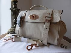 12f9e0c1f30 Mulberry Alexa (Regular) in Petticoat White Soft Buffalo with Rose Gold  Hardware - SOLD