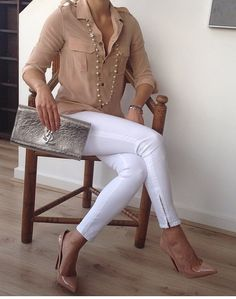 White and camel - so classic and chic