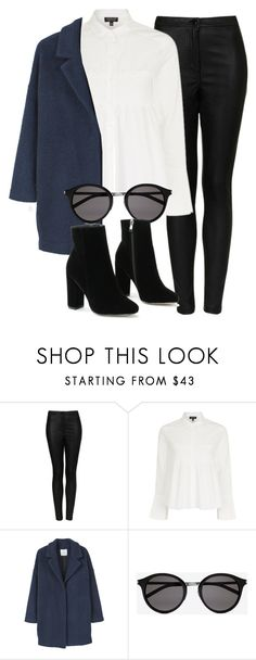 """""""Untitled #6459"""" by laurenmboot ❤ liked on Polyvore featuring Topshop, MANGO and Yves Saint Laurent"""