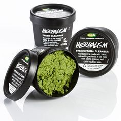 Lush - Herbalism Fresh Facial Cleanser - it's super nice to your skin, leaves it feeling all soft and deep-cleaned.