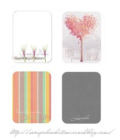 {French} Journal Cards by JC Chocolatine I love the heart one. (I couldn't figure out how to download)