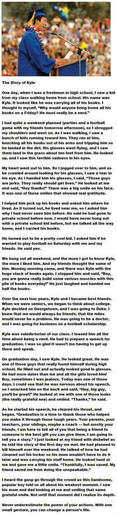 Kyle's story: | 33 Pictures That Will Make You Proud To Be A Human Being Again: