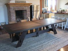Love this large dining table-could be rustic, Asian, contemporary