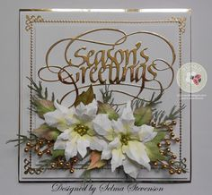 Elegant Poinsettia Card