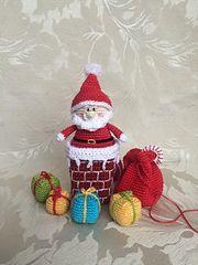 Ravelry: Santa in the Chimney crochet pattern by Uljana Semikrasa