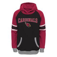 Arizona Cardinals Youth Black/Cardinal Fan Gear Robust Pullover Hoodie