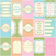 Sj's - Little Musings: Free digital journal cards, project life #printable #projectlife #freebie