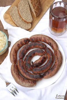 Don't let homemade sausage intimidate you. If you've ever wanted to make your own German Bratwurst, this easy Homemade Bratwurst recipe is for you! | www.CuriousCuisiniere.com