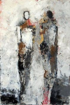 Julie Schumer is an abstract expressionist artist who creates landscape and figurative images. Paintings Famous, Expressionist Artists, Contemporary Abstract Art, Abstract Portrait, Art Moderne, People Art, Acrylic Art, Figure Painting, Art Techniques