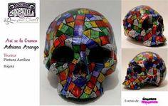 Participante Concurso Craneandola 2014. Bogota/Colombia #skull #art #craneandola #calavera #skullart #color
