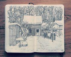2014 Sketchbook Art by Jared Muralt - Inspiration for drawings