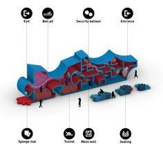 Gate Design, Facade Design, Facade Architecture, Concept Architecture, Kindergarten Interior, Urban Design Concept, Mixed Use Development, How To Attract Customers, Indoor Playground