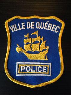 Ville du Quebec, Quebec, Canada - Obsolete Law Enforcement Agencies, Law Enforcement Officer, Quebec, Police Badges, Police Patches, Newfoundland And Labrador, Prince Edward Island, Thin Blue Lines, Nova Scotia