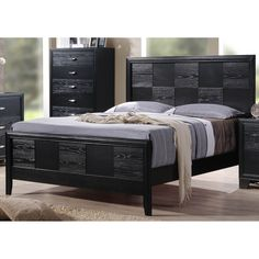 Lyke Home Vera Bed (Queen), Black