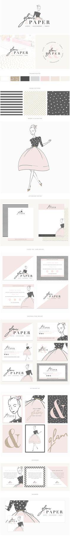 Brand Design | Glam & Paper » Brand Me Beautiful