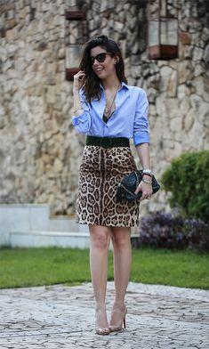 Look do dia: Camisa + oncinha! Garotas Estúpidas