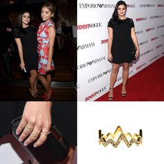 Ariel Winters of Modern Family wearing our Pave Heartbeat Ring in gold at the Teen Vogue Young Hollywood Party   Get it at www.hystericco.com