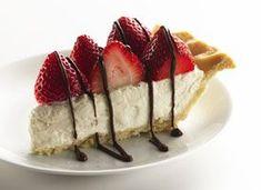 'Healthified' Strawberries and Cream Pie  Recipe