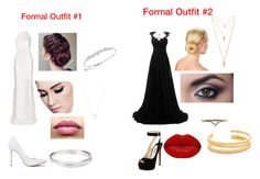 """""""Time to get formal"""" by brianna-metekingi ❤ liked on Polyvore featuring Calvin Klein Collection, TheBalm, Tiffany & Co., Swarovski, Prada, Winky Lux, Forever 21, Diamonds Unleashed and Madewell"""