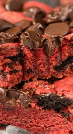 Oreo Red Velvet Cookie Bars