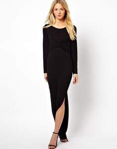modest evening dress. would be great for the curvy ladies too.