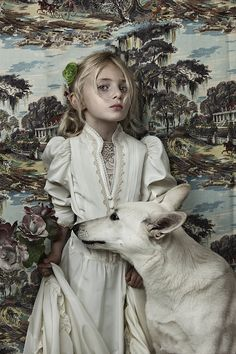 Stylized Kid-Pet Photography - Animal Child by Shelly Mosman Boasts Bold Wallpaper and Costumes (GALLERY) Children Photography, Animal Photography, Fashion Photography, Portrait Photographers, Portraits, Character Inspiration, Character Design, Tier Fotos, Jolie Photo