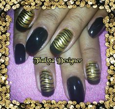 Zebrinha dourada e preta