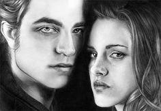 Edward and Bella Fan Art - The Twilight Saga