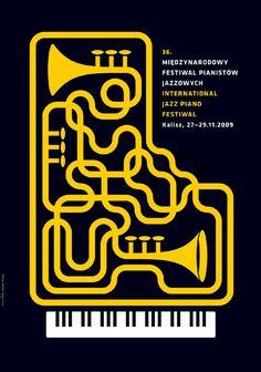 International Jazz Piano Festival, 2009 - Design by Gorska Joanna & Skakun Jerzy