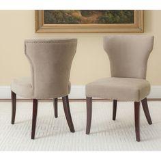 Safavieh Matty Dark Wheat Tan Nailhead Side Chairs (Set of 2)