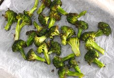 Roasted Broccoli is the best way to cook broccoli. it is DELICIOUS with nutty flavour that your family will ask for more. Vegan Vegetarian, Paleo, Burnt Food, Food Print, Broccoli, Roast, Sky, Fish, Vegetables