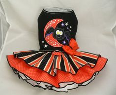 Small dog harness dress. Tutu skirt. Crystal Halloween by poshdog, $69.00