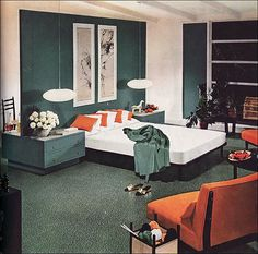 1954 Armstrong Mid Century Modern Bedroom | This image was p… | Flickr